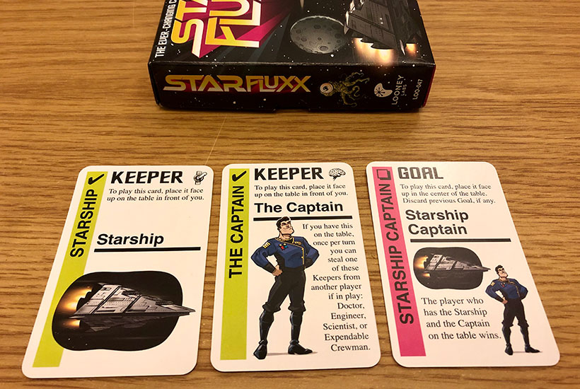 Star Fluxx Review - Box and Keeper Cards