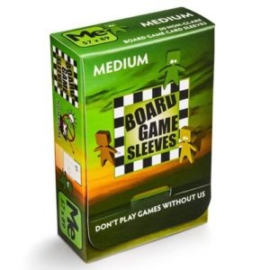 Board Game Sleeves Non Glare- Medium (fits cards of 57x89mm)