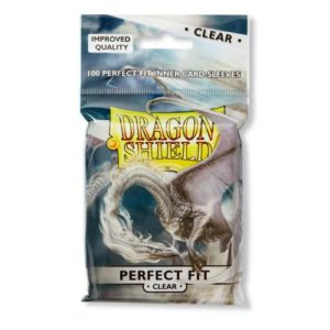 Dragon Shield Perfect Fit Toploaders - Clear/Clear (100 ct. in bag)