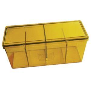 Dragon Shield Storage Box w. 4 compartments - Yellow
