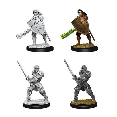 Dungeons & Dragons Nolzur's Marvelous Miniatures – Male Human Fighter (WAVE 8)
