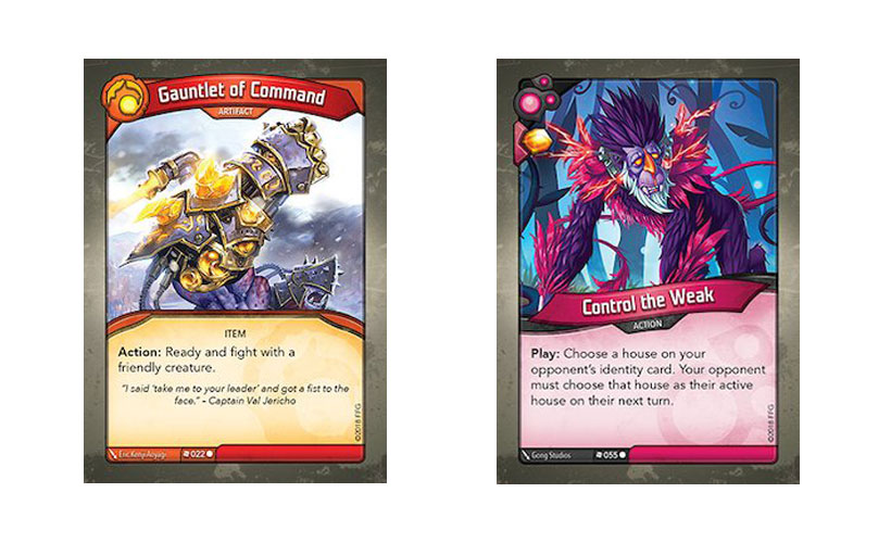 Favourite KeyForge Cards - Gauntlet of Command and Control the Weak