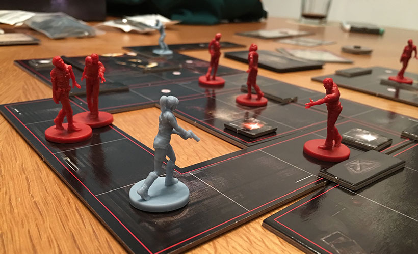 Miniatures in Resident Evil 2: The Board Game