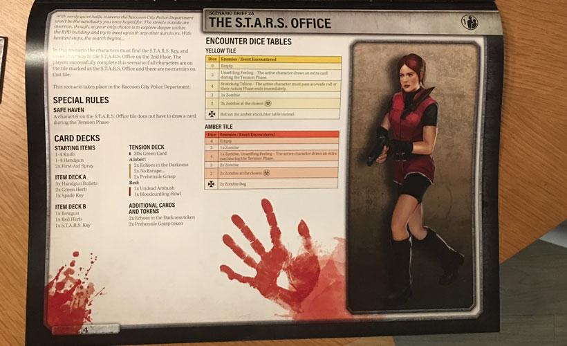 Resident Evil 2: The Board Game - Scenario Brief