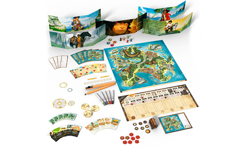 Treasure Island Review - Game Components