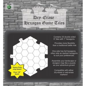 Dry Erase Dungeon Tiles: White 6
