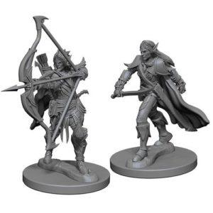 Pathfinder RPG: Deep Cuts Unpainted Miniatures: Elf Male Fighter (Wave 1)