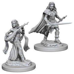 Pathfinder RPG: Deep Cuts Unpainted Miniatures: Human Female Bard (Wave 4)