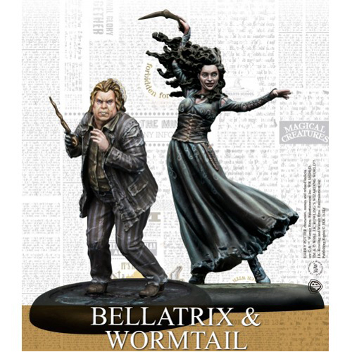 Bellatrix and Wormtail Exp Harry Potter Miniatures Adventure Game (HPM)