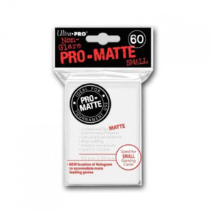 Pro Matte Small White Deck Protector Sleeves