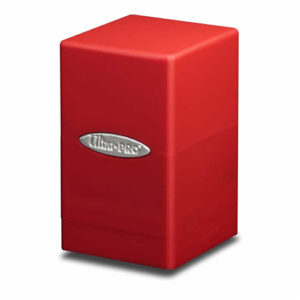Red Satin Tower Deck Box