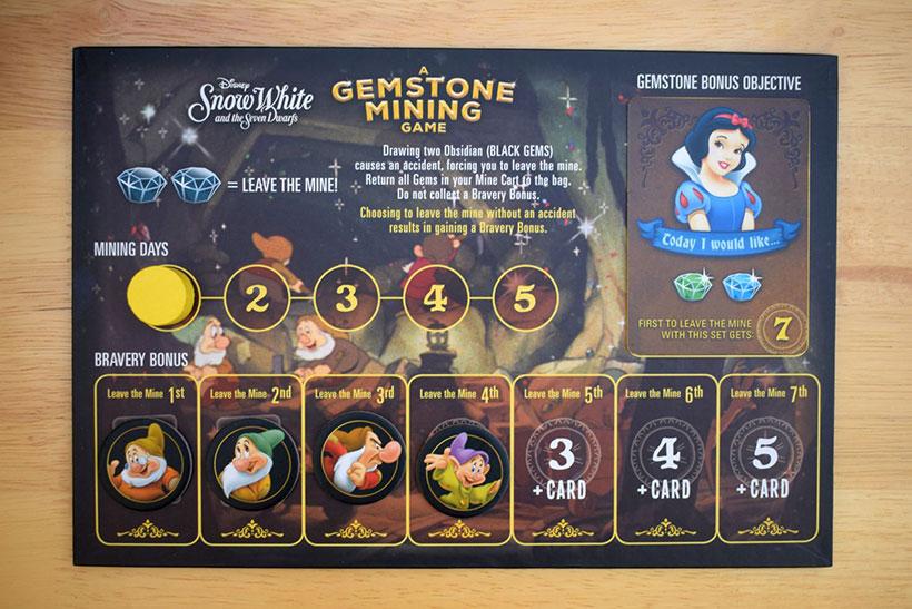 Snow White Gemstone Mining Game - Play Board