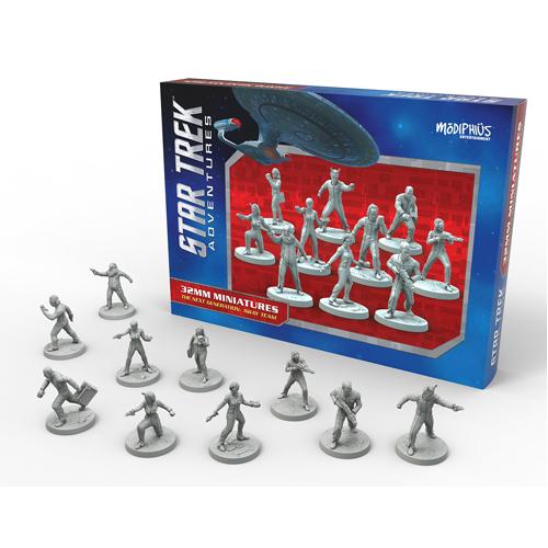 The Next Generation Away Team 32mm Miniatures: Star Trek Adventures