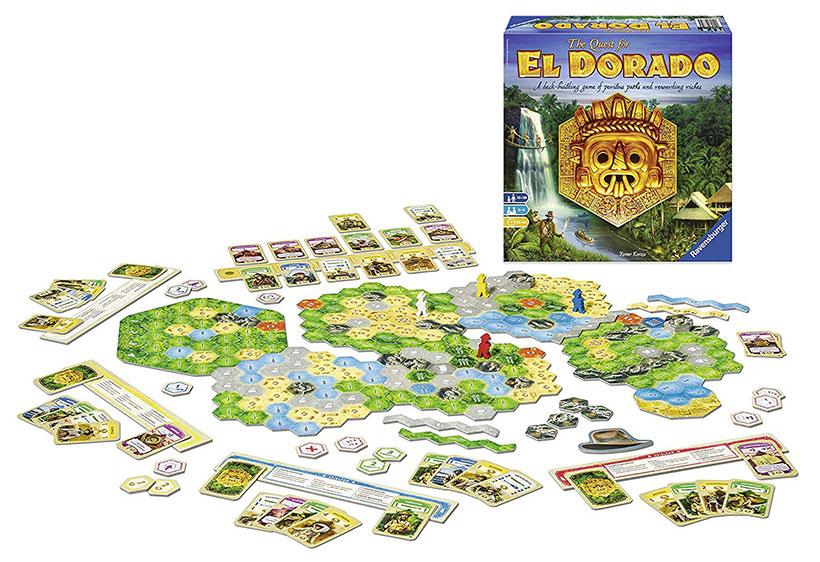 The Quest for El Dorado Game Components