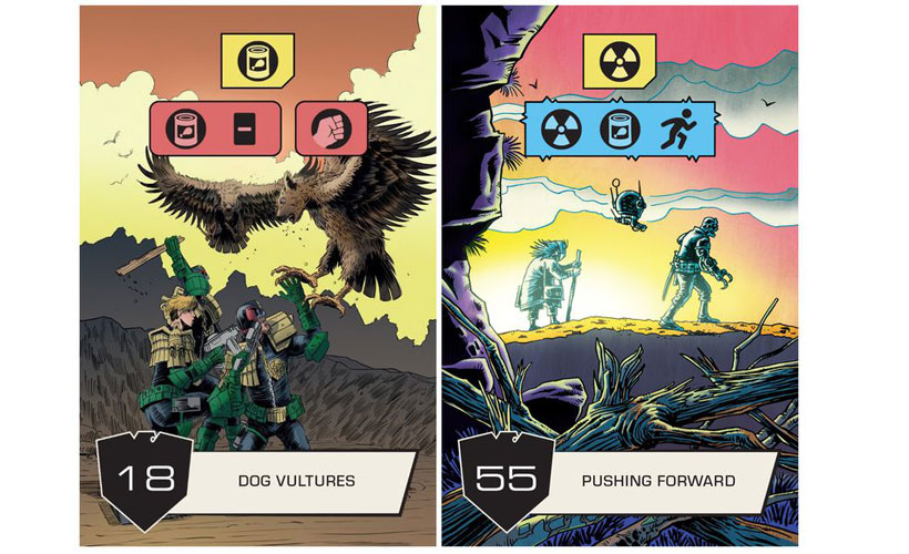 Cards in Judge Dredd: The Cursed Earth