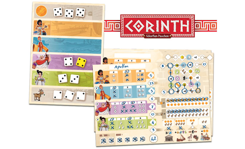 Corinth Review - Game Components