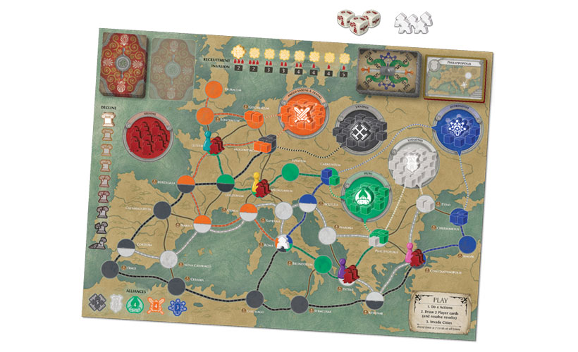 Pandemic: Fall of Rome - Game Board
