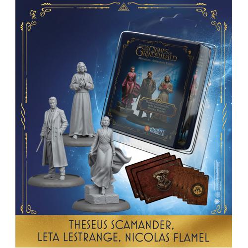 Harry Potter Miniatures Adventure Game: Theseus Scamander, Leta LeStrange, Nicolas Flamel Expansion