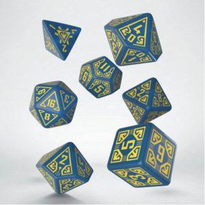 Q-Workshop Arcade Blue & yellow Dice Set