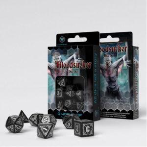 Q-Workshop Bloodsucker Black & silver Dice Set