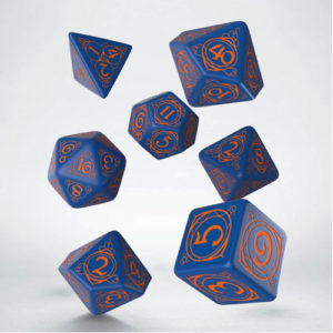 Q-Workshop Wizard Dark-blue & orange Dice Set