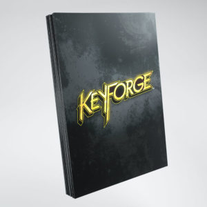 Keyforge Logo Card Sleeves: Black (40)