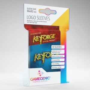 Keyforge Logo Card Sleeves: Blue (40)