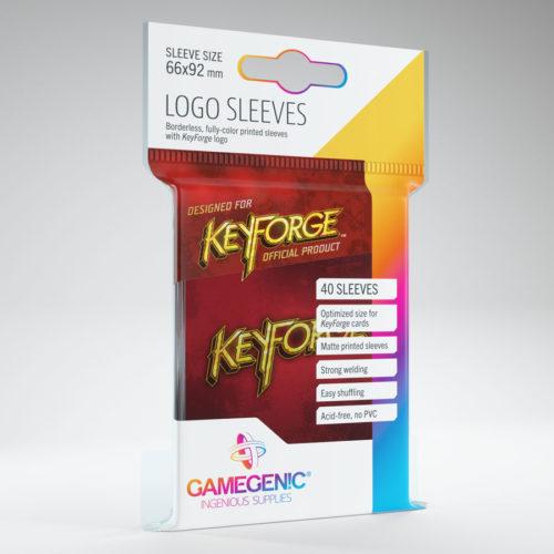 Keyforge Logo Card Sleeves: Red (40)
