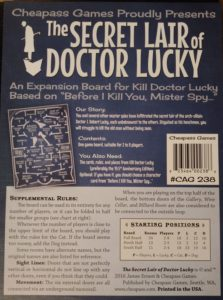 Kill Doctor Lucky Expansion: Secret Lair of Doctor Lucky