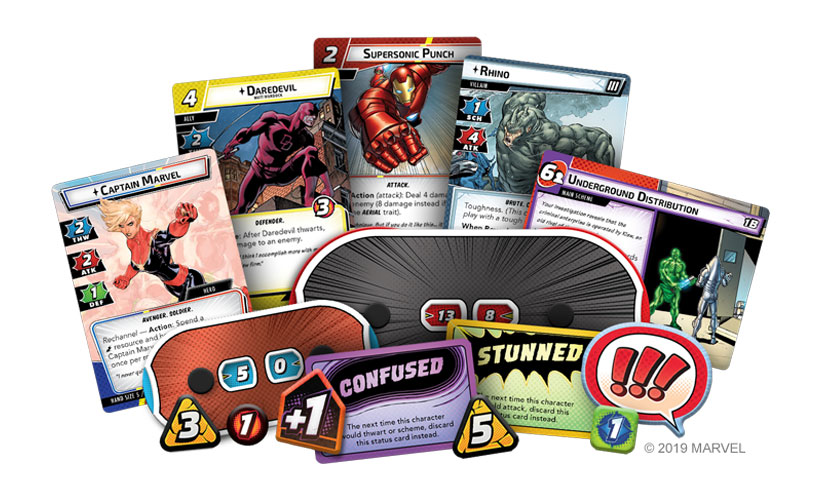 Marvel Champions: The Card Game Components