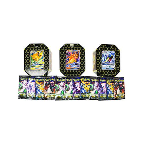 Pokemon TCG Hidden Fates Tin – Set of 3