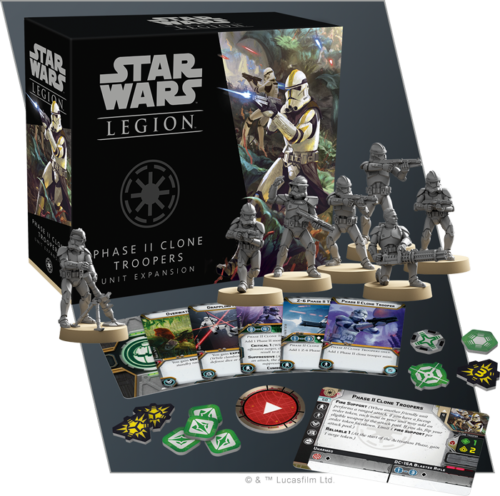 Star Wars Legion Expansion: Phase II Clone Troopers Unit