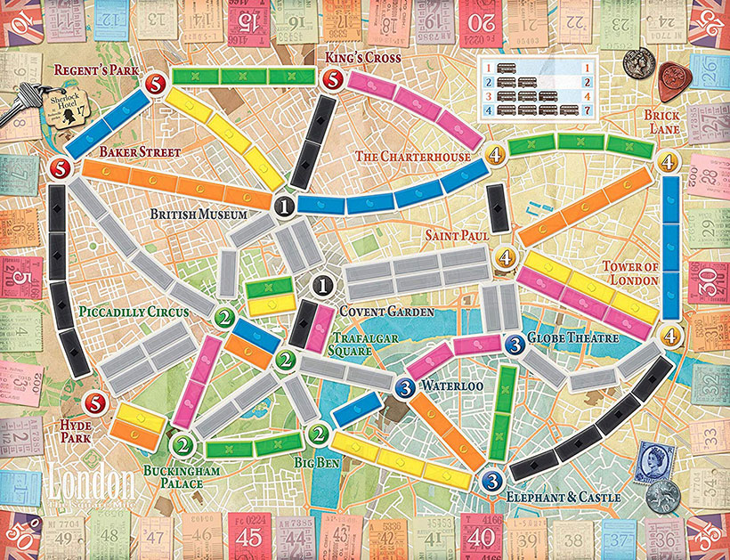 Ticket to Ride: London - Game Board