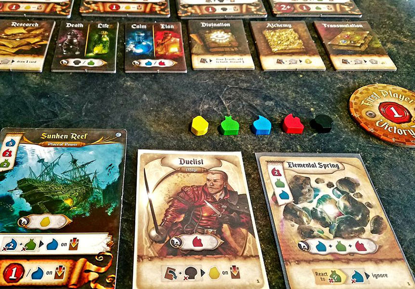 Playing Res Arcana Board Game