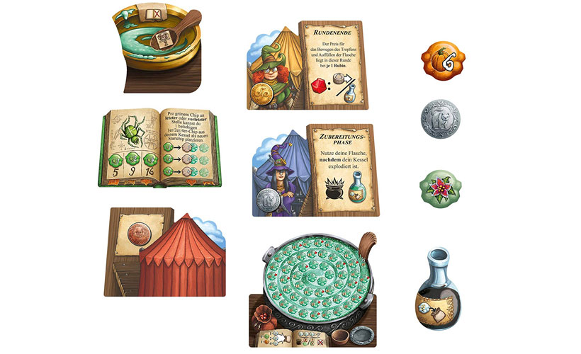 The Herb Witches Expansion - Game Components