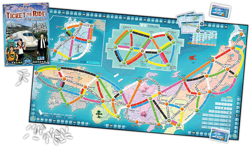 Ticket to Ride Japan Map