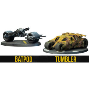 Tumbler and Batpod: Batman Miniatures Game