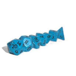 Blue Turqouise Semi Precious Set - 7 Pieces & Pendant