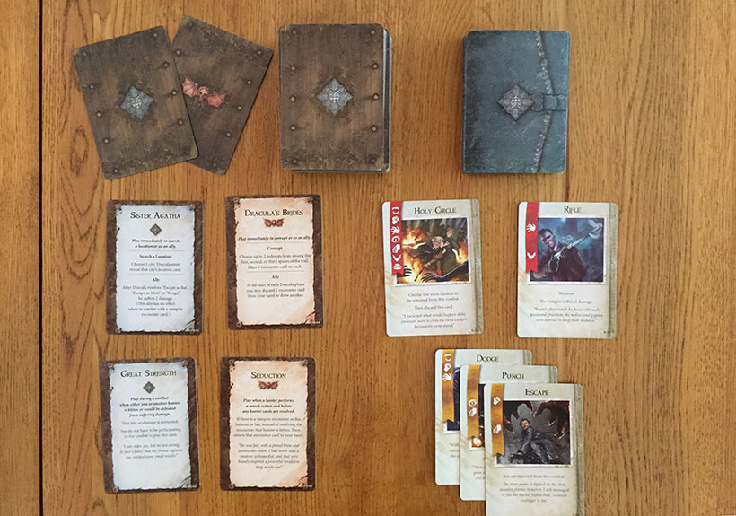 Fury of Dracula - The Hunter's Cards