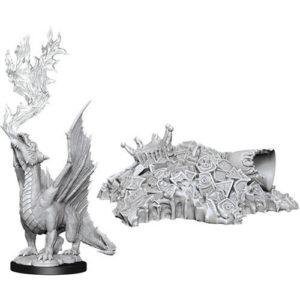 D&D Nolzur's Marvelous Unpainted Miniatures (W11): Gold Dragon Wyrmling & Treasure Pile