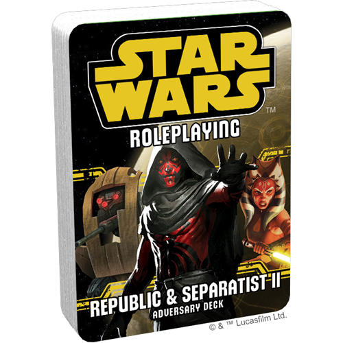Star Wars Roleplaying: Republic and Separatists 2 Adversary Deck