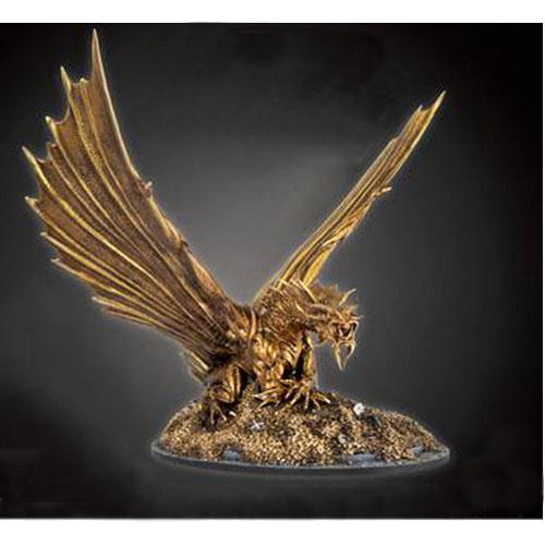 D&D Collector's Series Waterdeep Miniature- Aurinax the Gold Dragon and Banehammer Dwarf