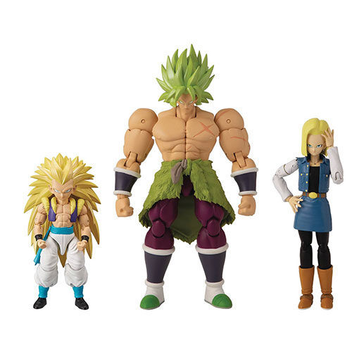 Dragon Stars Poseable Figure Assortment SS3 Gotenks SS Broly Android 18