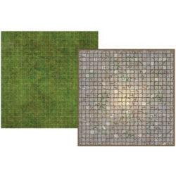 Battle Mat Board - Dungeon and Grass