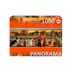 Cats On The Quay - Panorama Puzzle