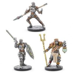 D&D: Eberron - Warforged Monk, Wizard & Fighter (3   Miniatures)