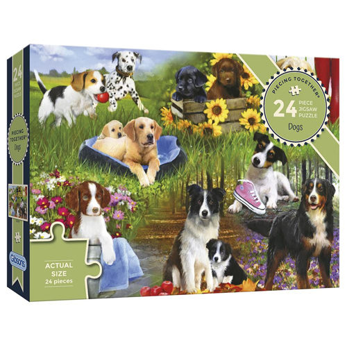 Dogs On The Quay - Panorama Puzzle