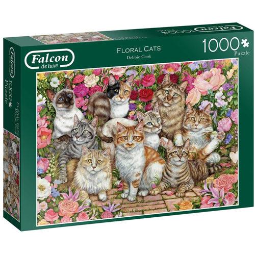 Floral Cats Puzzle
