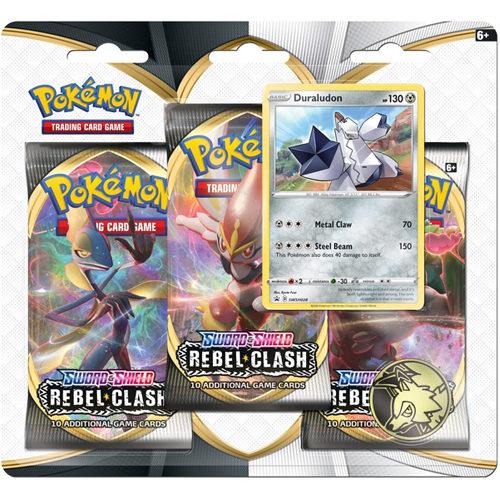 Pokemon TCG: Sword & Shield 2 Rebel Clash 3-Pack Blister - Duraludon