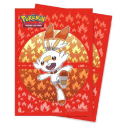 Scorbunny Deck Protector Sleeves (65ct): Pokemon Sword and Shield Galar Starters